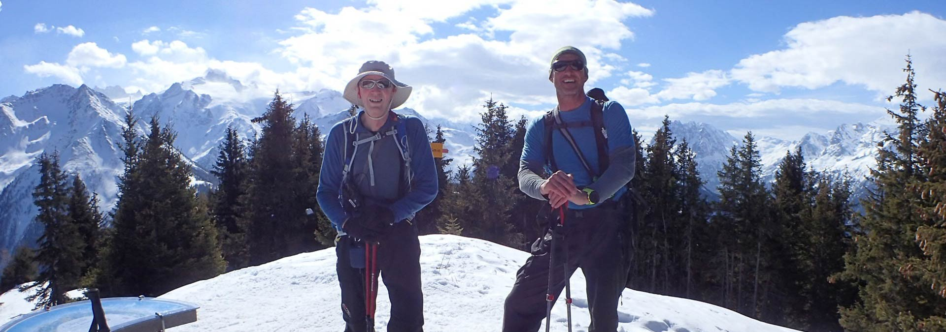 Chamonix Snowshoe Adventure - the Prarion summit in perfect conditions