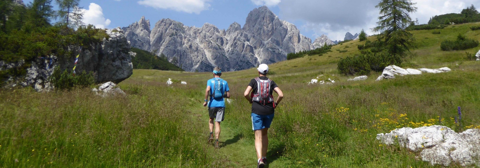 trail run the Dolomites