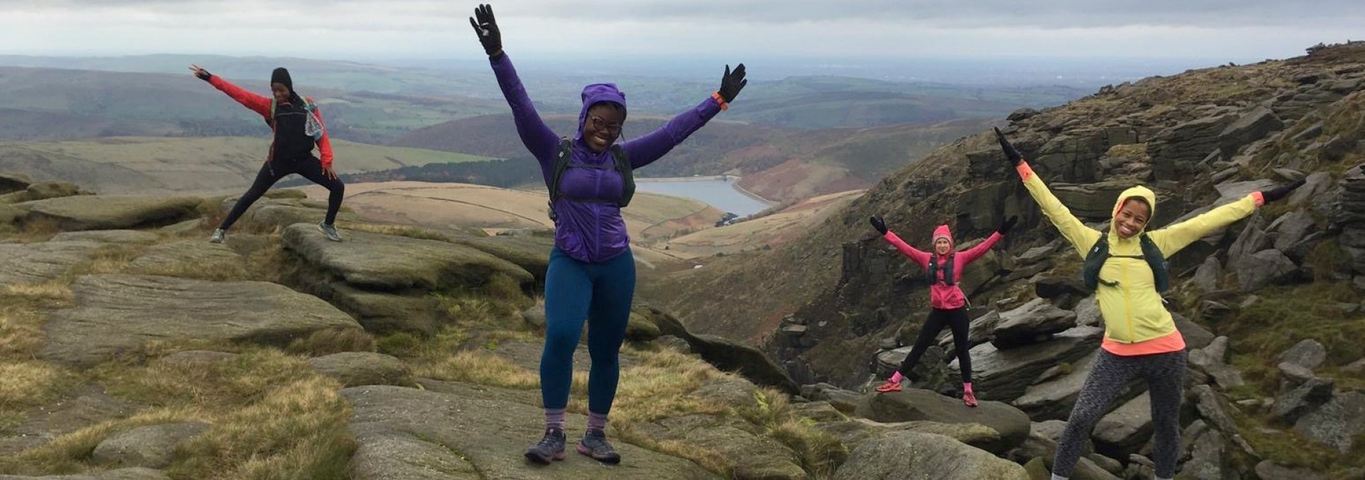 Grit trails in the Peak District