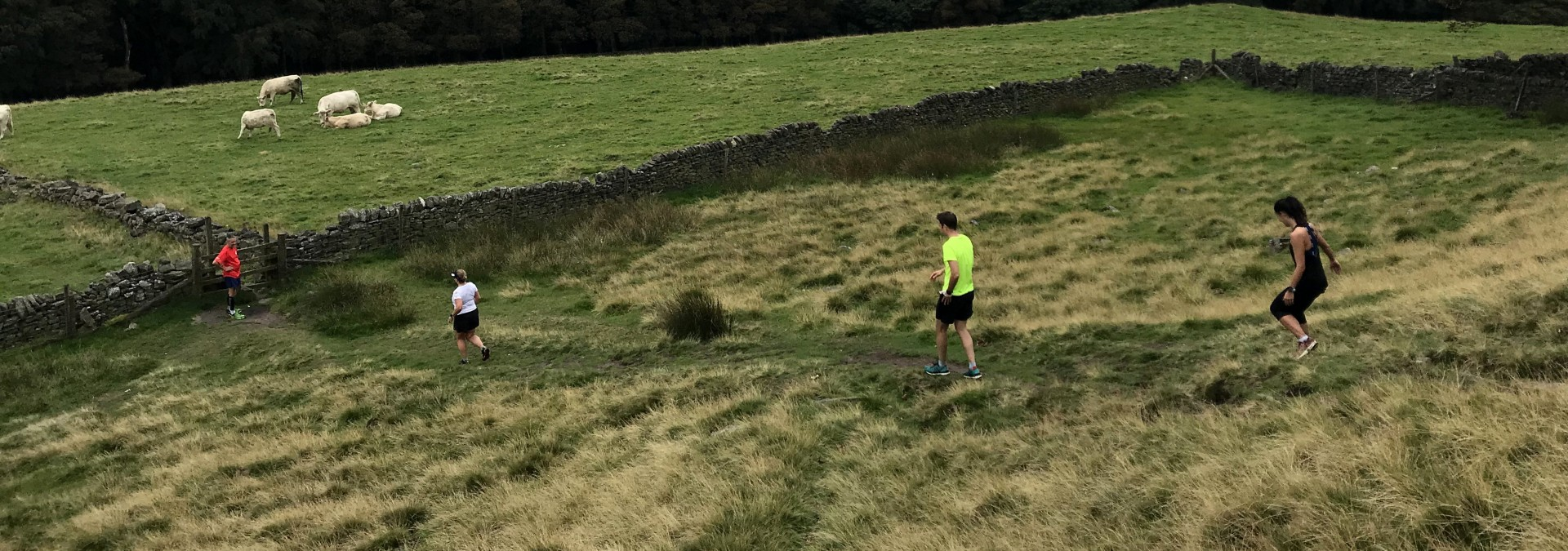 Off road running in the Peak District