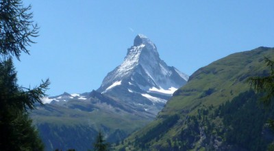 The iconic Swiss view of the Matterhorn.