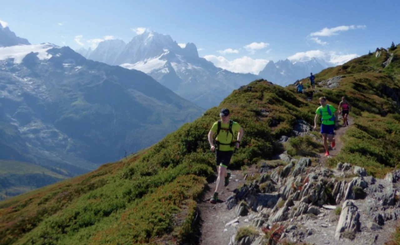 Trail running in the French Alps, high above the Chamonix Valley. One of our favourite things to do, ever.