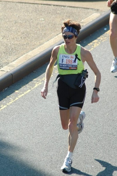 Vicki Perry running New York Marathon