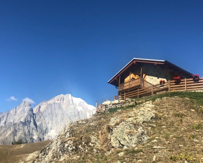 The Rifugio Bertone, in Italy, like many mountain huts sits in a beautiful location.