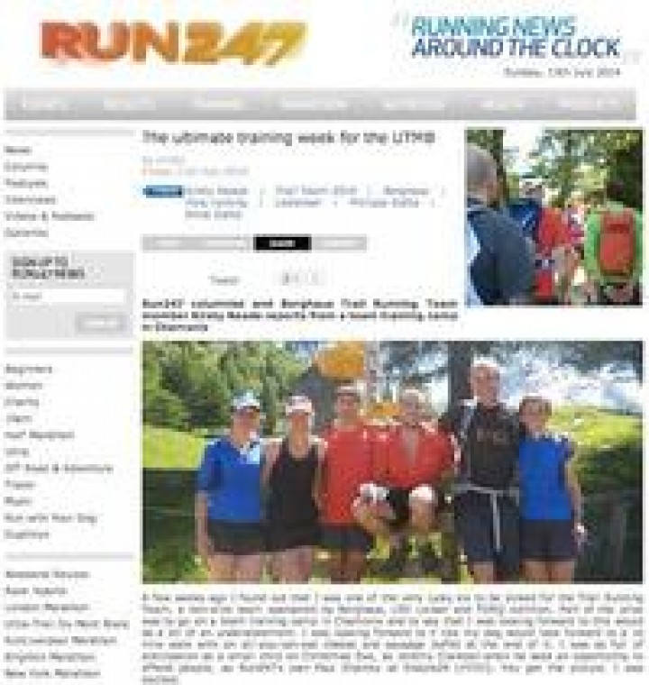 Run247's Kirsty Reade on her ultimate training week for the UTMB®