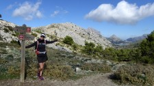 Julia hiking one of her favourites - the GR221 across Mallorca